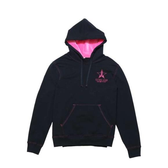 c0856ce74c9 💖Jeffree Star black hot pink velour hoodie💖